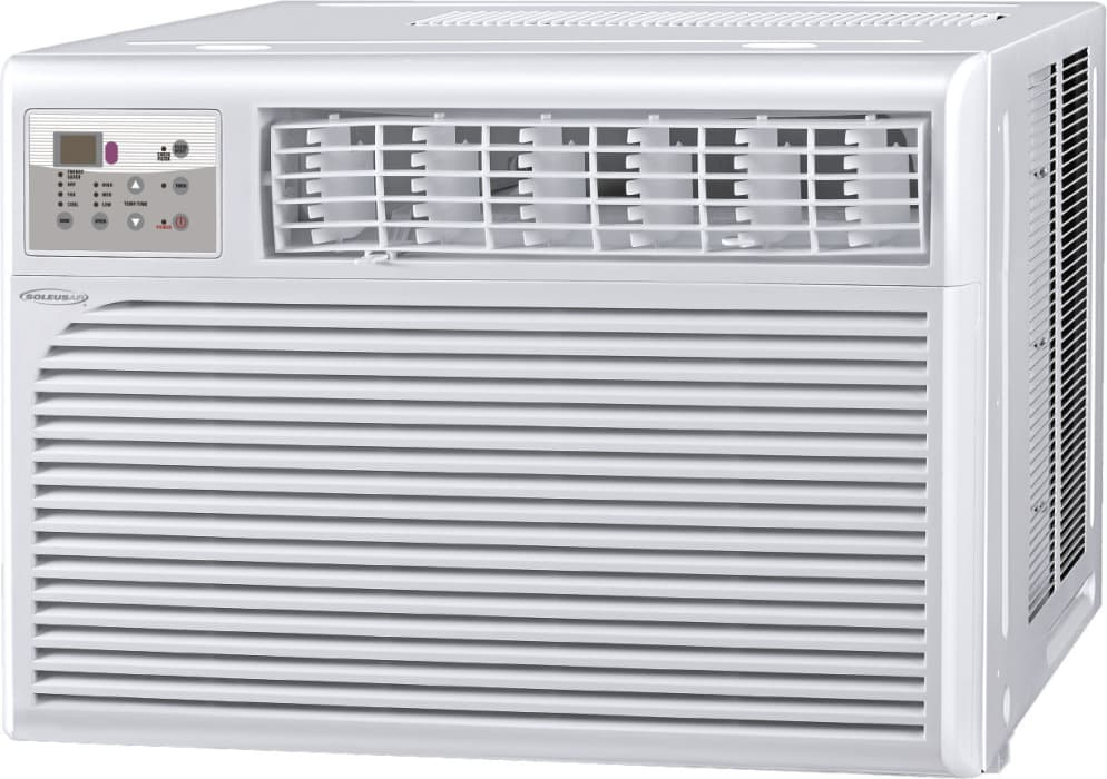 Soleus Hccw15esa1 15 000 Btu Room Air Conditioner With 11 2 Eer R 410a Refrigerant 75 Pints Day Dehumidification 3 Fan Speeds Energy Saving Mode And Remote Control