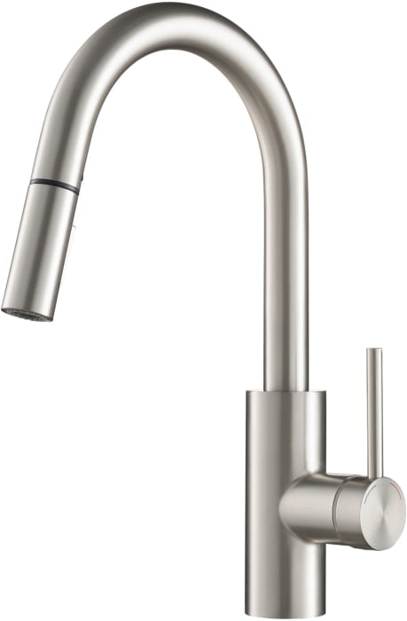 Kraus Kpf2620sfs Single Handle Pull Down Kitchen Faucet With 8 11 16 Inch Spout Reach Dual Function Sprayer 360 Degree Swivel Secureconx Counterweight Retractable Neoperl Hose Quickdock Top Mount Installation And Ada Compliant Spot Free