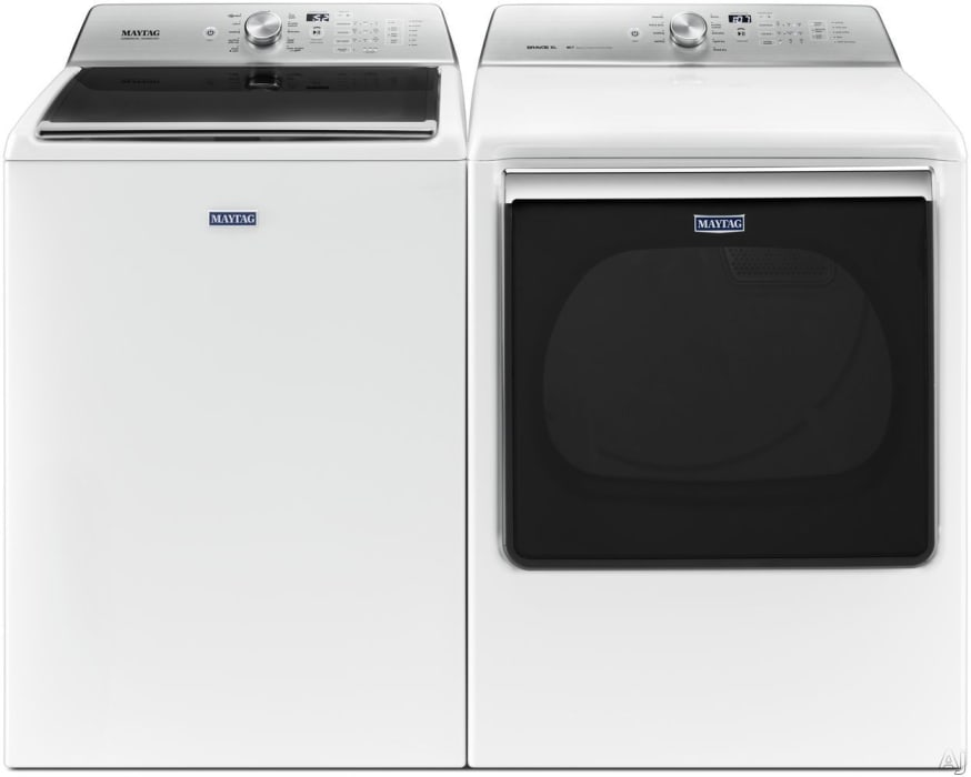 Maytag Mawadrew8651 Side By Side Washer Dryer Set With Top Load Washer And Electric Dryer In White