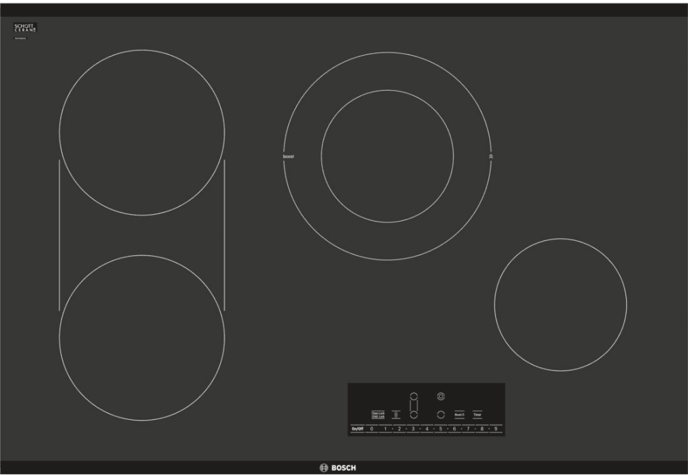 Electric Cooktop With Dual Size Burner