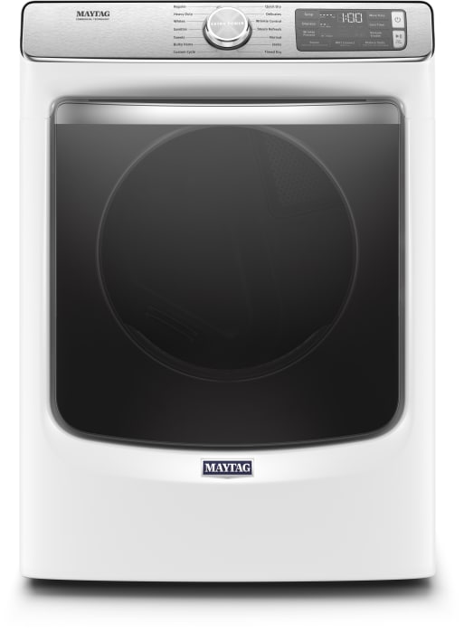 Maytag Mgd8630hw 27 Inch 7 3 Cu Ft Gas Dryer With Steam Enhanced Dryer Extra Power Button Wrinkle Prevent Option Quick Dry 5 Temperature Selections 7 4 Cu Ft Capacity 14 Dry Cycles And Energy Star Certified White