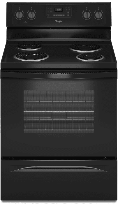 Whirlpool Wfc310s0eb 30 Inch Freestanding Electric Range With 4 Coil Elements 2 600 Watts 4 8 Cu Ft Traditional Oven Self Cleaning System And Accubake Temperature Management System Black