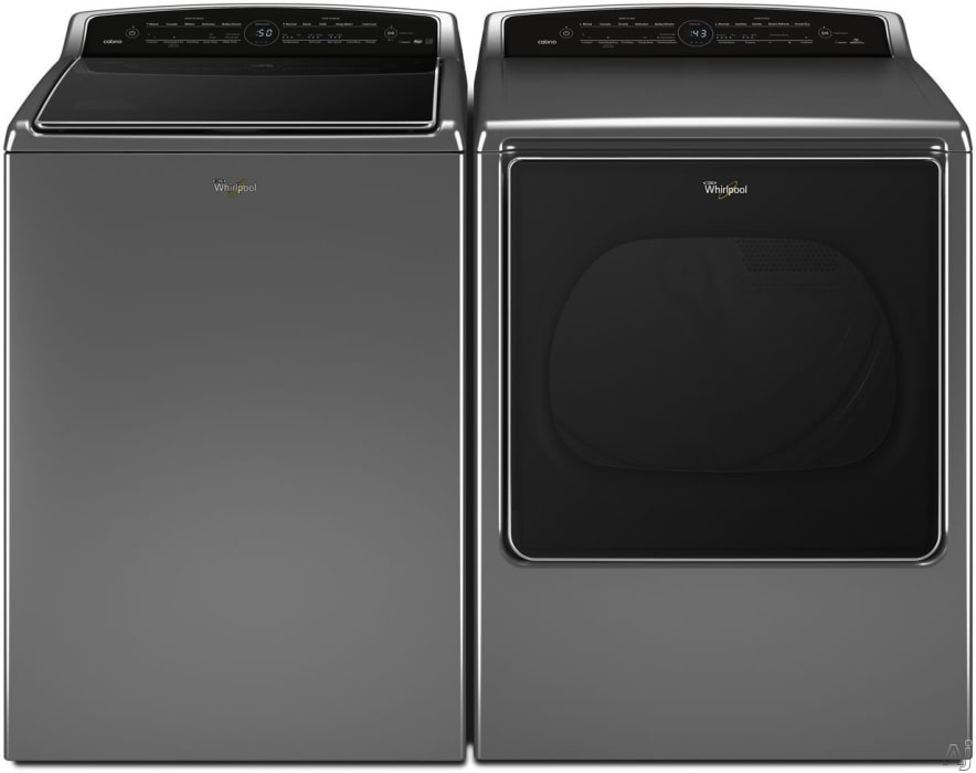 Whirlpool Wpwadrgc1 Side By Side Washer Dryer Set With Top Load Washer And Gas Dryer In Chrome Shadow