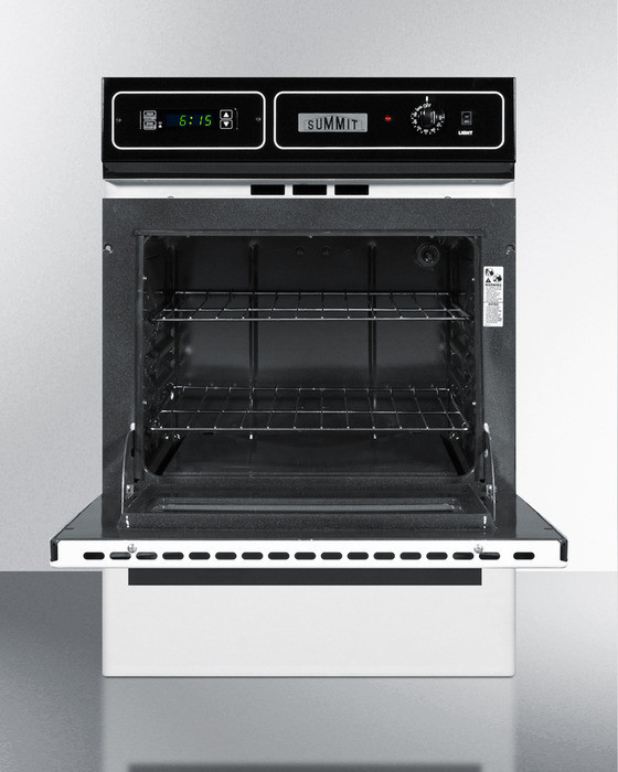 Summit Wtm7212kw 24 Inch Single Gas Wall Oven With 2 92 Cu