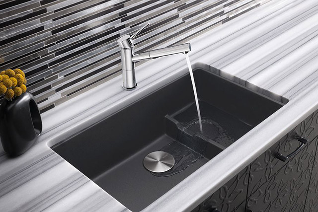 Blanco 519450 29 Inch Undermount Single Bowl Granite Sink with 8 Inch ...