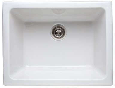 Rohl 6347 24 Inch Fireclay Kitchen Sink With 10 Inch Deep