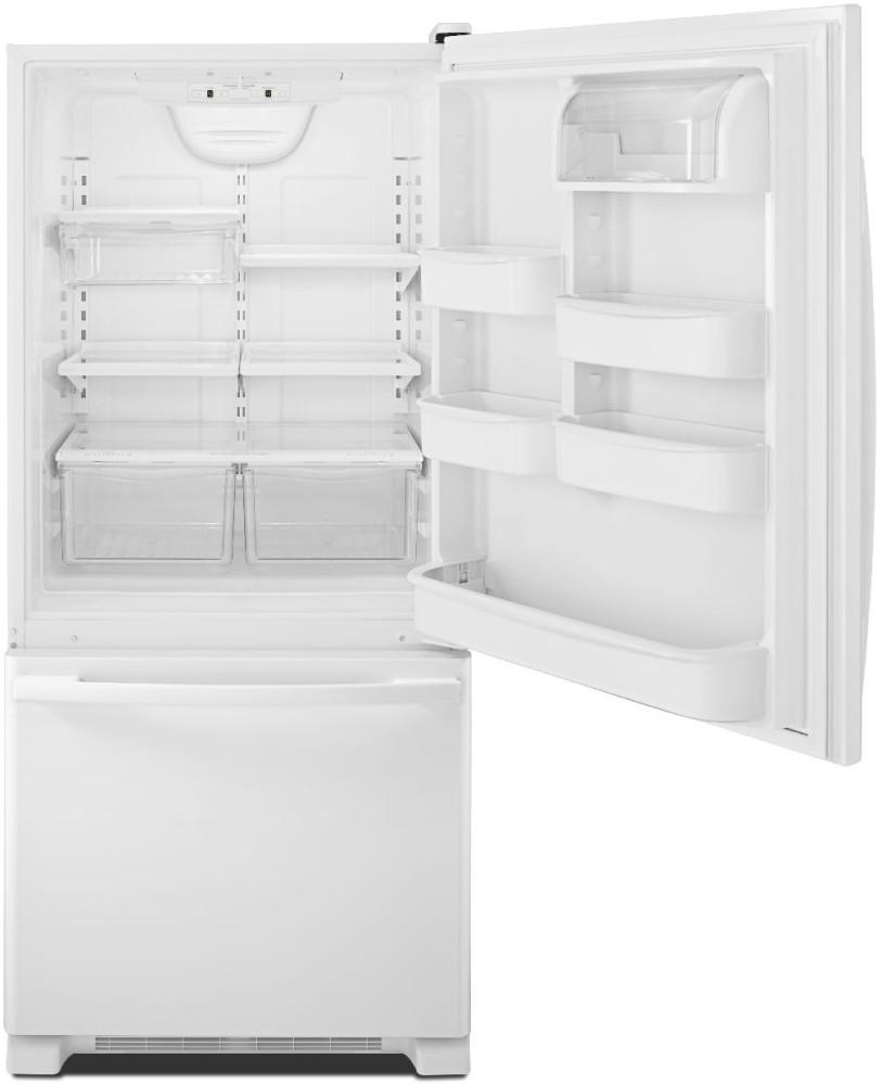 amana abb1924br 29 inch bottom freezer refrigerator with. Black Bedroom Furniture Sets. Home Design Ideas