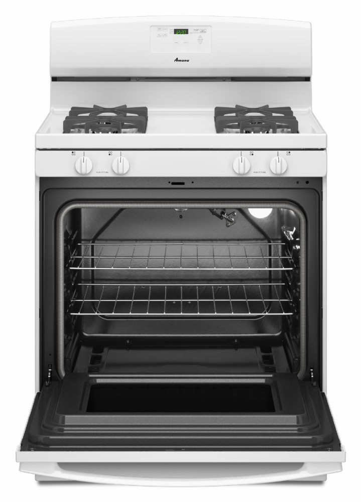 Amana Agr5630bdw 30 Inch Freestanding Gas Range With 4