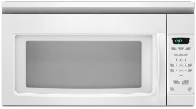 Amana Amv1150vaw 1 5 Cu Ft Over The Range Microwave Oven