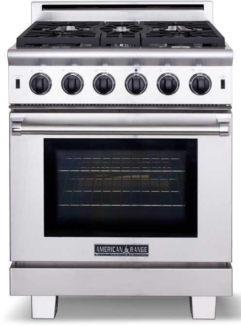 American Range ARR530L 30 Inch Pro Style Gas Range with 5 Sealed Burners 4 3