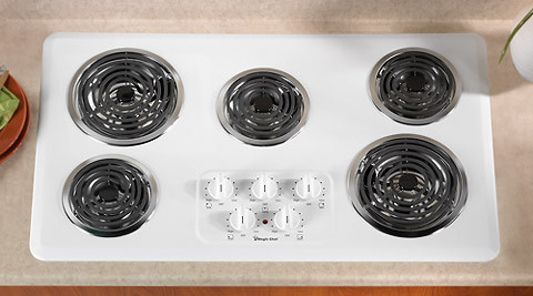 Magic Chef Cec1536aaw 36 Inch Electric Cooktop With 5 Coil
