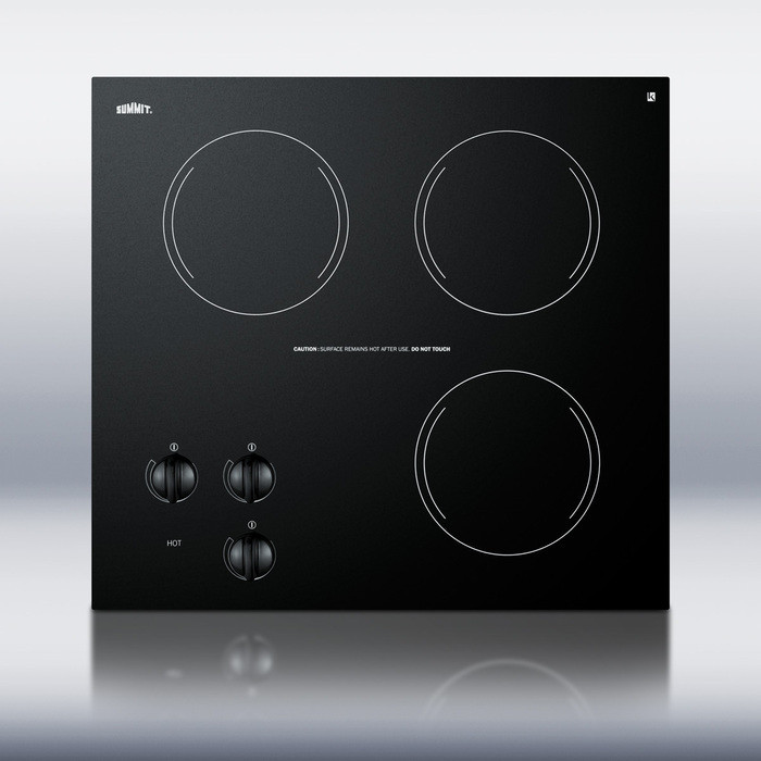 Summit Cr3240 21 Inch Smoothtop Electric Cooktop With