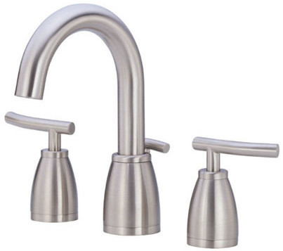 Danze D303054bn Double Lever Mini Widespread Lavatory Faucet With 5 1 4 Inch Reach 8 1 4 Inch