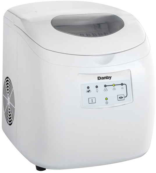 Danby Countertop Ice Maker Stainless Steel : Danby DIM2500WDB Countertop Ice Maker with 25 lbs. Daily Production, 2 ...