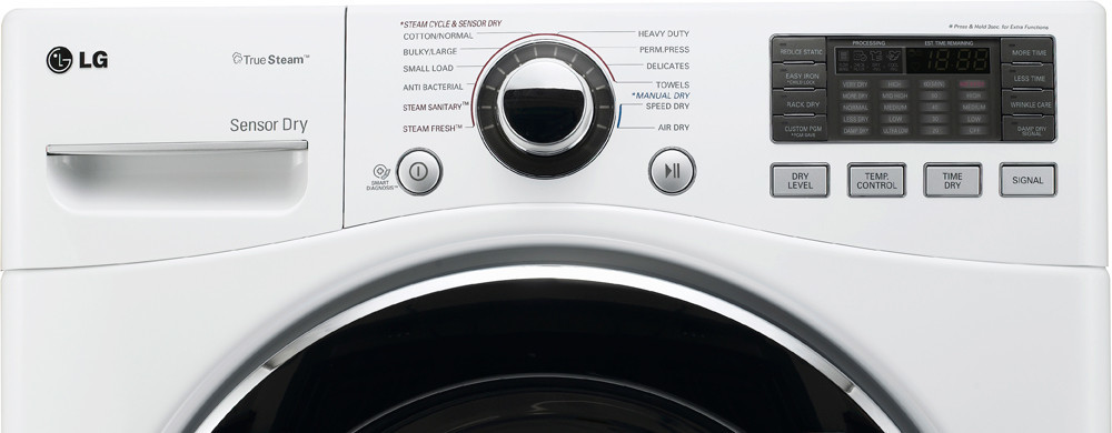 Lg Dlex3070w 27 Inch Electric Dryer With 7 3 Cu Ft