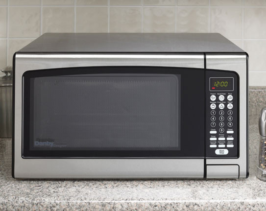 Danby Dmw111kpssdd 1 1 Cu Ft Countertop Microwave Oven With 1000 Cooking Watts 6 One Touch