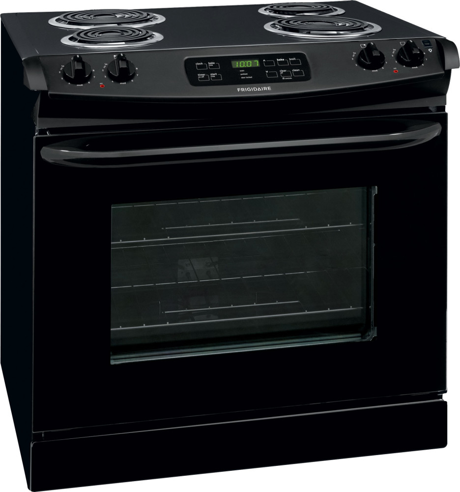 Electric Coil Stove ~ Frigidaire ffed pb inch drop in electric range with