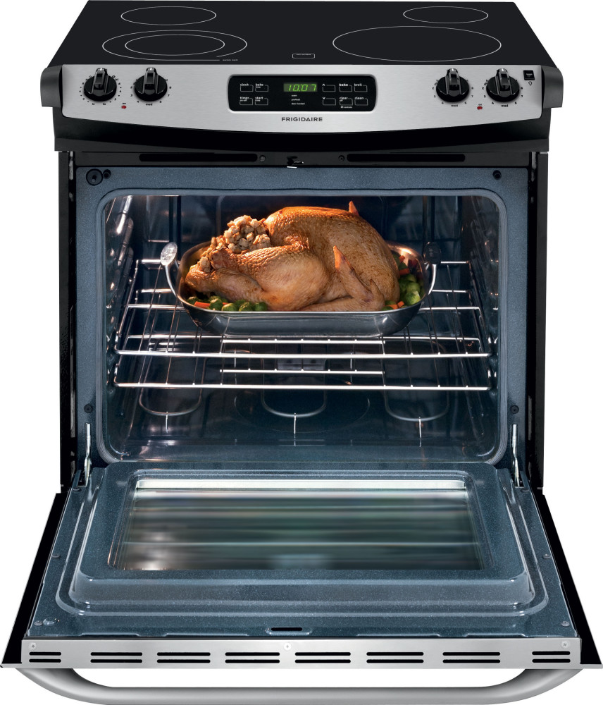 frigidaire ffed3025ps 30 inch drop in smoothtop electric range with 4 heating elements 4 6 cu. Black Bedroom Furniture Sets. Home Design Ideas