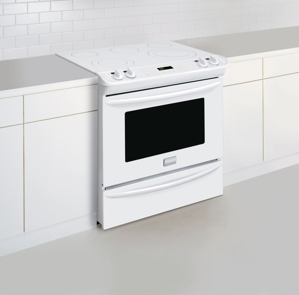 Frigidaire Fges3065pw 30 Inch Slide In Smoothtop Electric