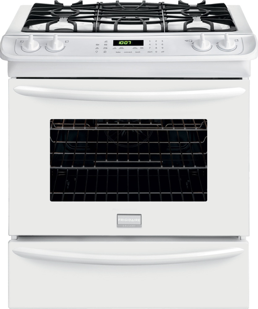 Frigidaire fggs3065p 30 inch slide in gas range with 4 5 cu ft convection oven 4 sealed - Clean gas range keep looking new ...