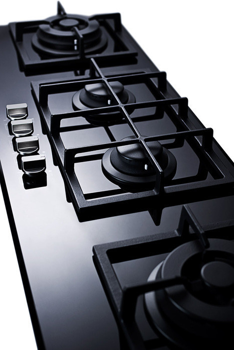 Summit Gc443bgl 43 Inch Island Gas Cooktop With 4 Sealed