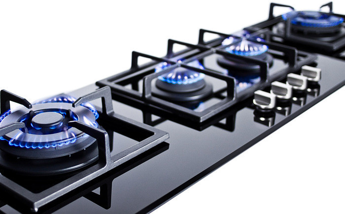 Fuel Induction Service >> Summit GC443BGL 43 Inch Island Gas Cooktop with 4 Sealed Burners, Cast Iron Grates, Electronic ...
