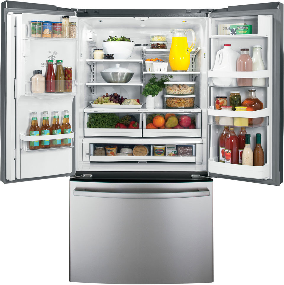 French Door Refrigerators: GE GFE29HSDSS 28.6 Cu. Ft. French Door Refrigerator With