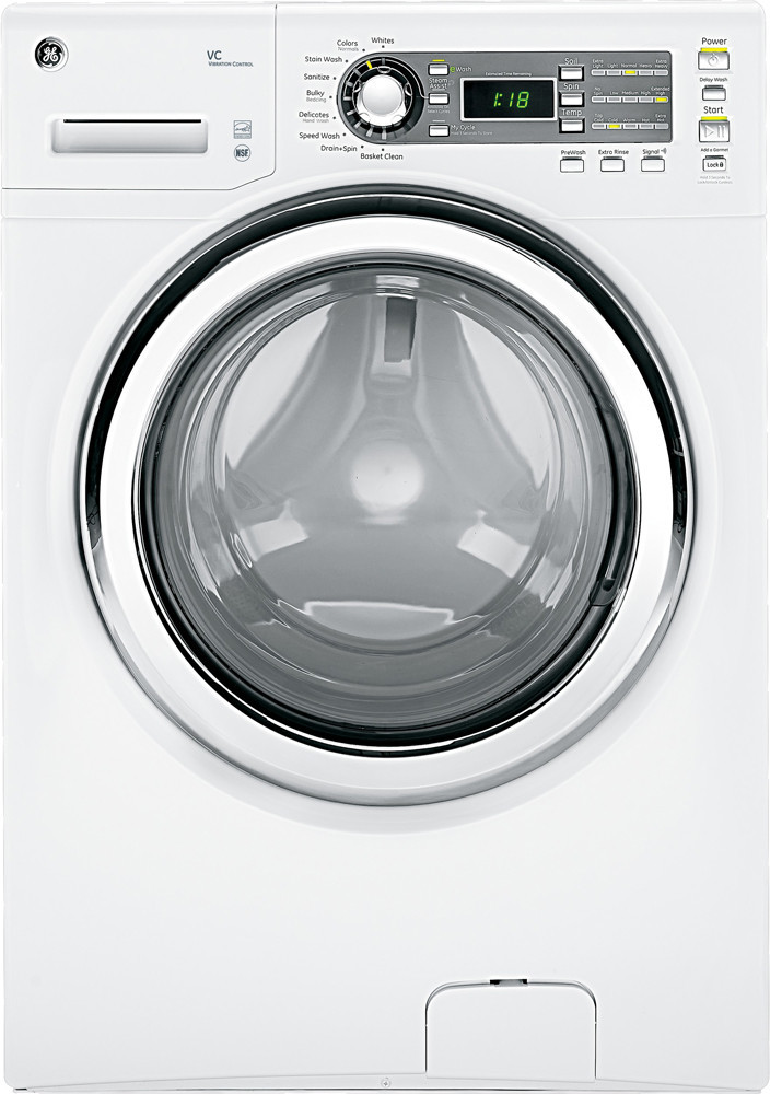 Ge Gfws1500dww 27 Inch Front Load Washer With 4 1 Cu Ft