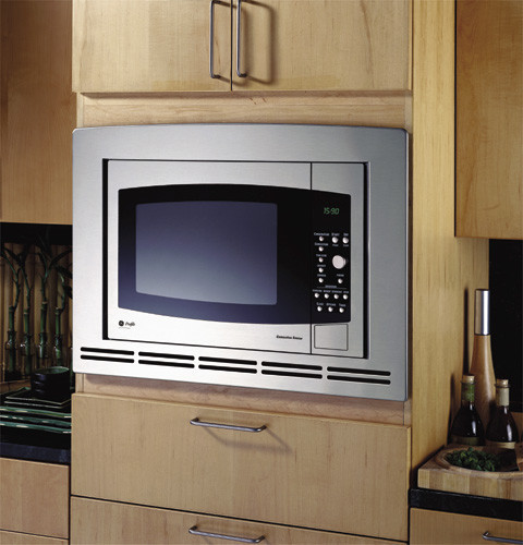 GE JE1590 1.5 cu. ft. Countertop Microwave with 1000 Cooking Watts & Convection Oven