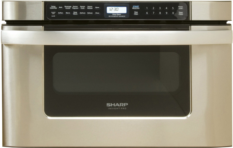 Sharp kb6524p 24 inch built in microwave drawer with 1 2 for Built in microwave 24 inches wide