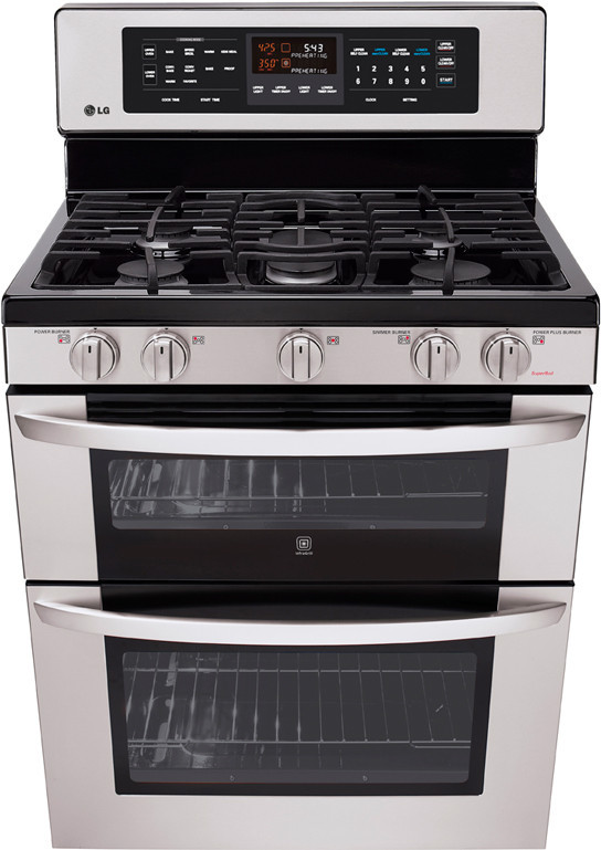 Double Oven Griddle ~ Lg ldg st inch freestanding gas double oven range