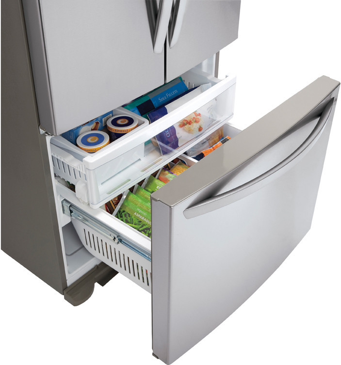 Lg Lfc25765st 24 9 Cu Ft French Door Refrigerator With