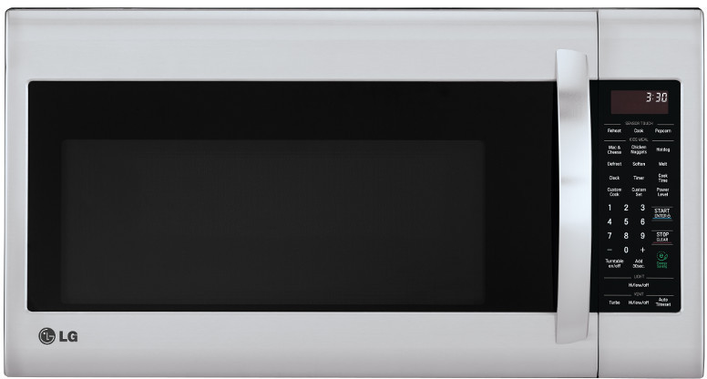 Lg Lmv2031st 2 0 Cu Ft Over The Range Microwave Oven