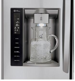 Lg Lmx25986st 24 7 Cu Ft 4 Door French Door Refrigerator