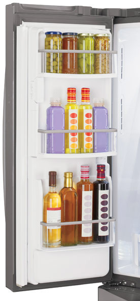 Lg lmx25988st 24 7 cu ft french door refrigerator with 4 for Split french doors