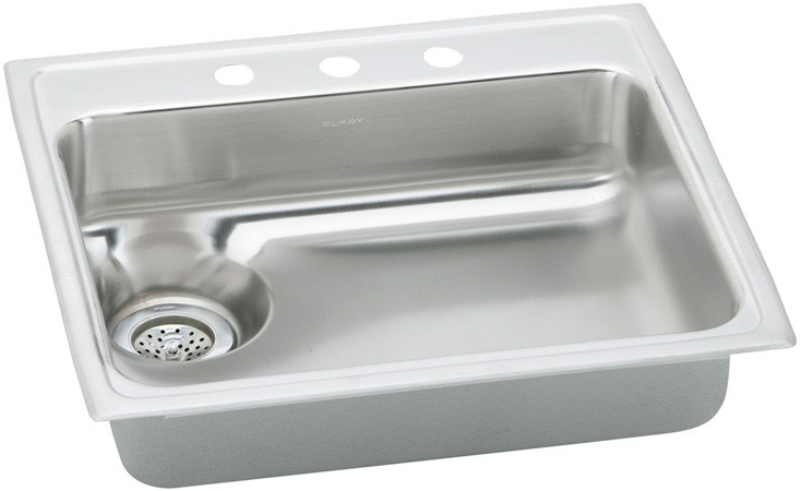 Elkay Lwr2522l1 25 Inch Top Mount Single Bowl Stainless