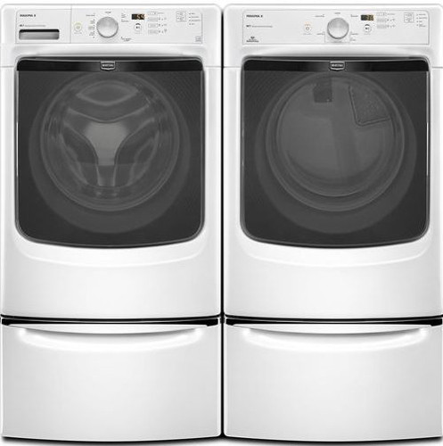 Maytag MED3000BW 27 Inch Electric Dryer with 7.4 cu. ft ...