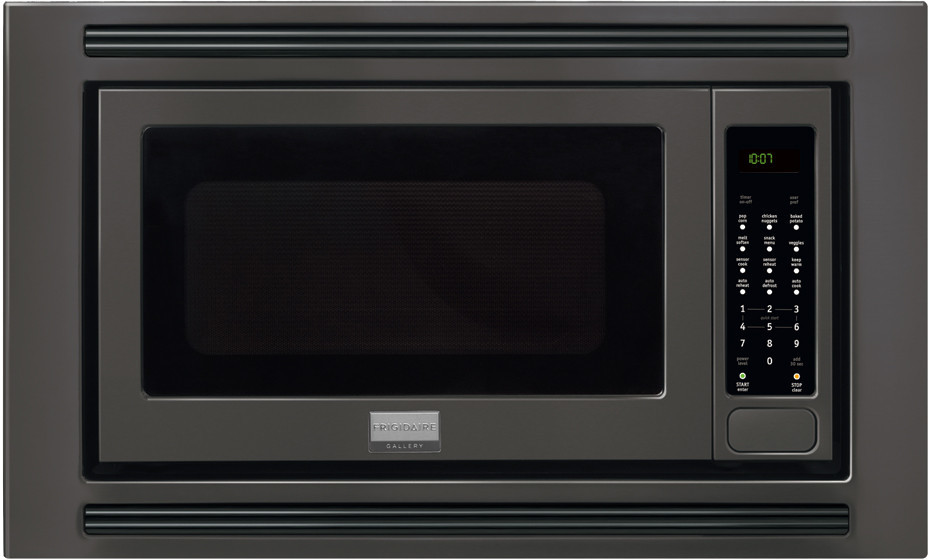 Frigidaire fgmo205kb 2 0 cu ft countertop microwave oven for Microwave ovens built in with trim kit