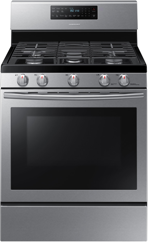 samsung nx58h5600ss 30 inch freestanding gas range with 5 8 cu ft convection oven 5 sealed. Black Bedroom Furniture Sets. Home Design Ideas