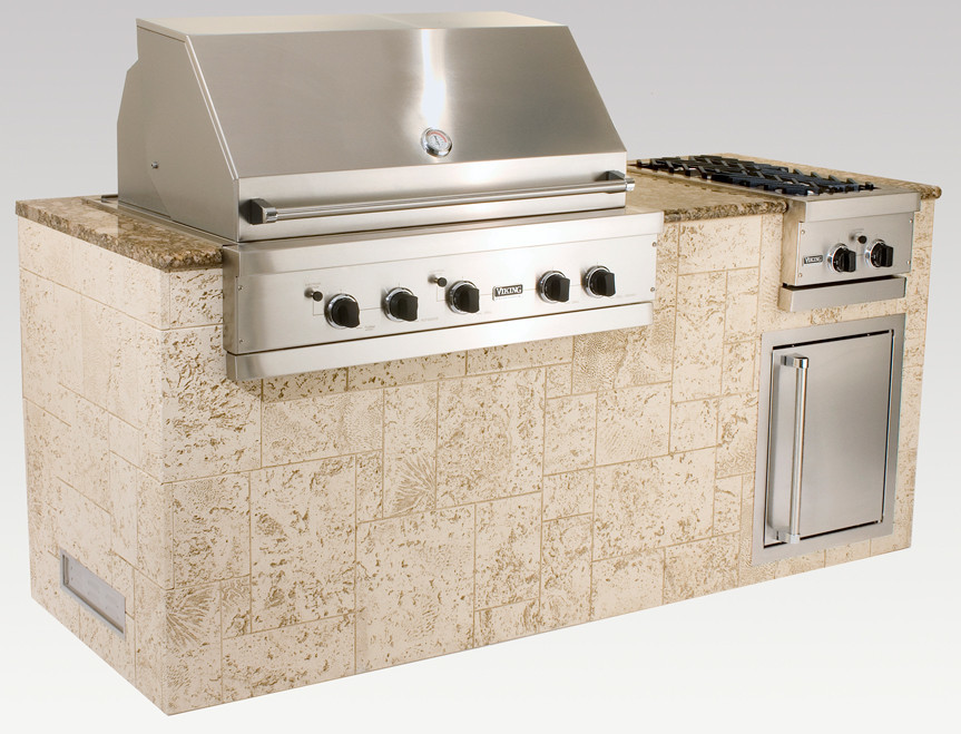 Viking omi07202vkkl 72 inch outdoor island package with 30 for Viking built in grill