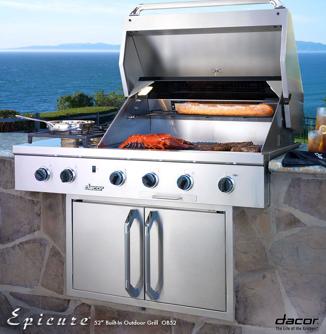 Dacor Obs52lp 52 Inch Built In Gas Grill With 2 20 000 Btu