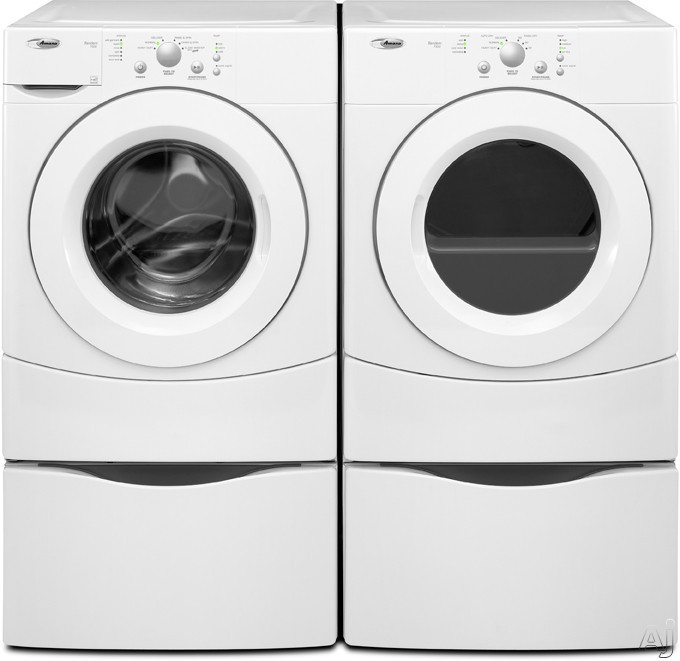 Amana Nfw7300ww 27 Inch Front Load Washer With 3 5 Cu Ft Capacity 6 Wash Cycles 3 Temperatue Settings 1 100 Rpm Spin Speed And 3 Tray Dispenser