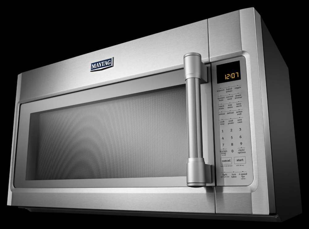 Maytag Mmv6190ds 1 9 Cu Ft Over The Range Microwave Oven With 1000 Watts 400 Cfm Venting