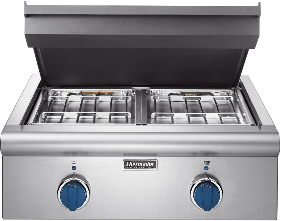 Thermador Gas Cooktop With Downdraft: Thermador P24GED 24 Inch Electric Griddle Cooktop With