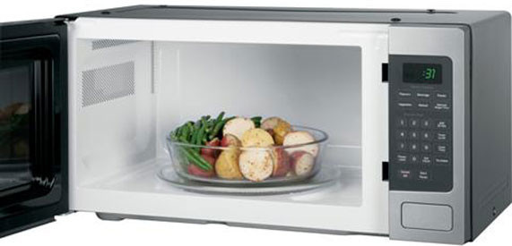 Ge Pem31df 1 1 Cu Ft Countertop Microwave Oven With 800