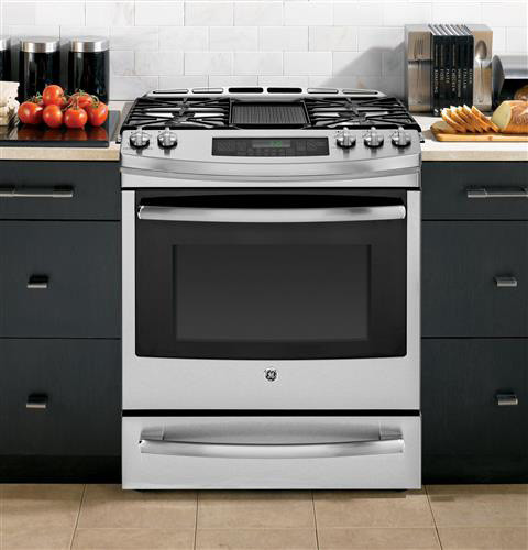 Ge Pgs920sefss 30 Inch Slide In Gas Range With 5 6 Cu Ft