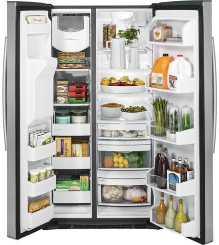 ge pse26ksess 25 9 cu ft side by side refrigerator with. Black Bedroom Furniture Sets. Home Design Ideas