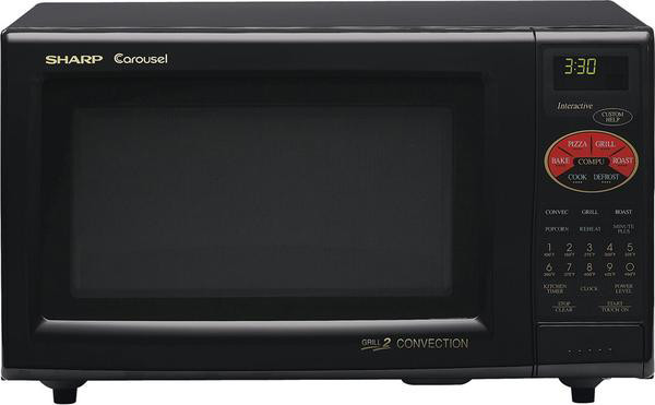 Sharp R820bk 0 9 Cu Ft Countertop Microwave Oven With