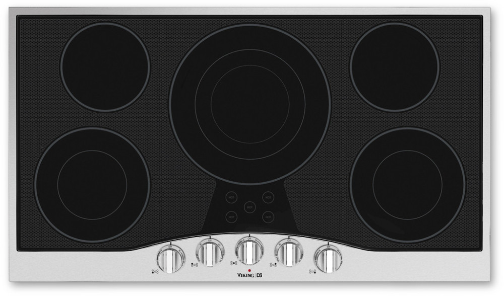 Viking Electric Cooktop ~ Viking rdecu bsb inch electric cooktop with