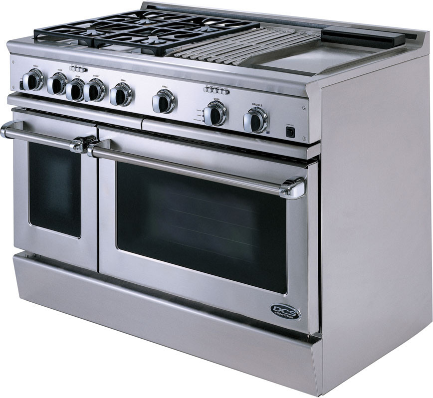 dcs rdt484ggssl 48 inch pro style dual fuel range with 4 sealed dual